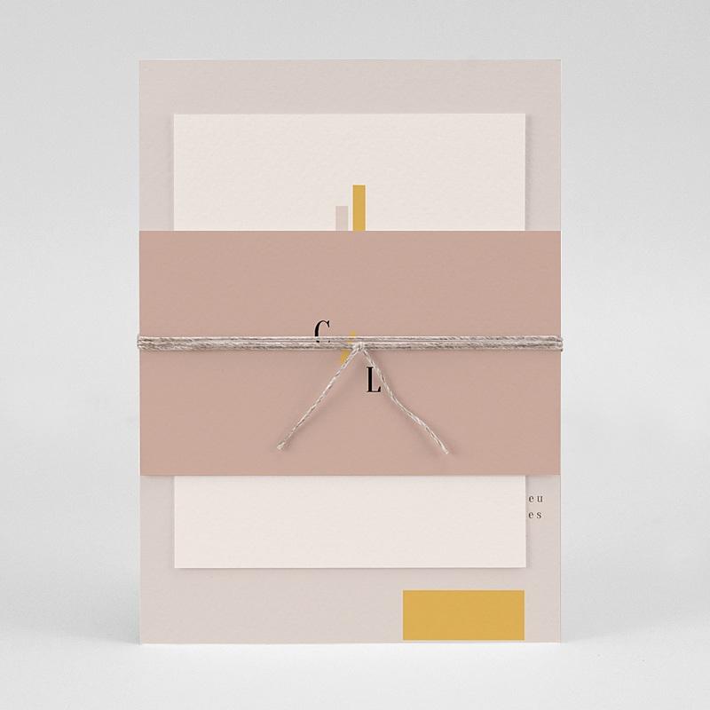 Faire-Part Mariage Simple - Blush & Doré 72334 thumb