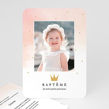 Faire-Part Baptême Princesse - Princess - 0