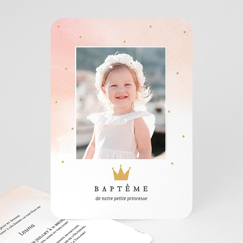 Faire-Part Baptême Princesse Princess