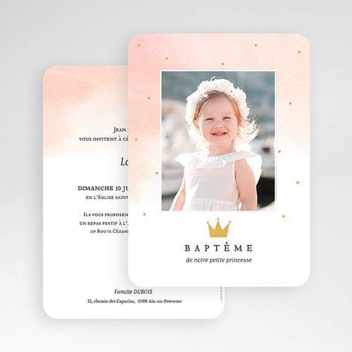 Faire-Part Baptême Princesse Princess gratuit