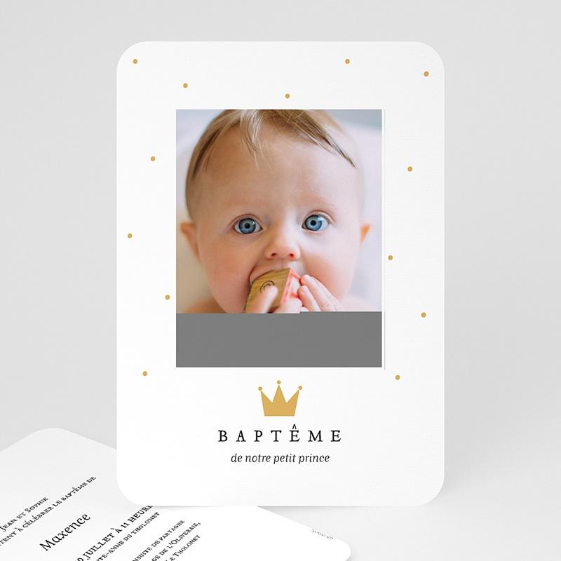 Faire-part Baptême Garçon - Prince 72374 thumb