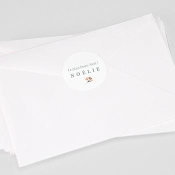 Etiquette autocollante naissance - Noel Liberty - 0