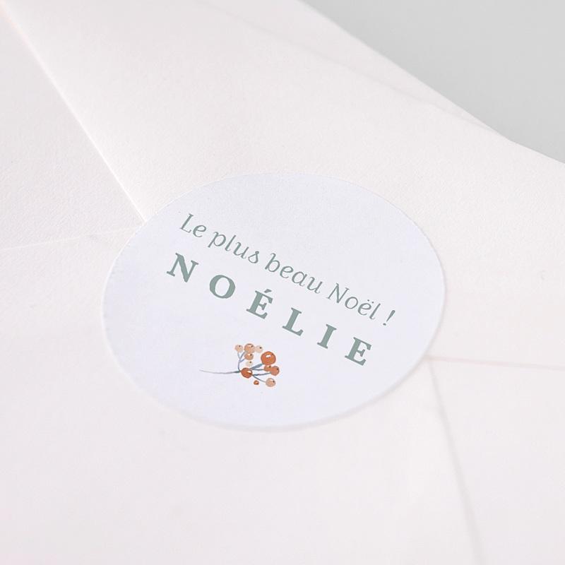 Etiquette Autocollante Naissance Noel Liberty pas cher