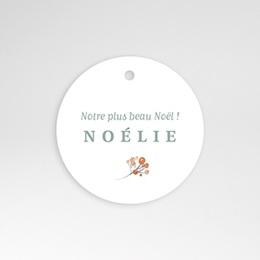 Etiquette naissance Noel Liberty
