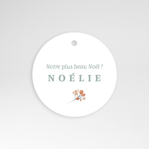 Etiquette Cadeau Naissance Noel Liberty