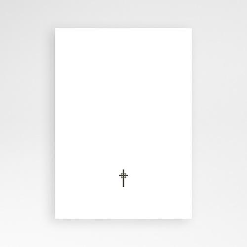 Faire-part Baptême Fille - Traditionnel - Marron 7242 thumb