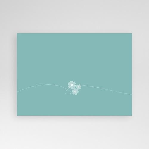 Faire-Part Baptême Garçon Bleu - Motif Fleur pas cher
