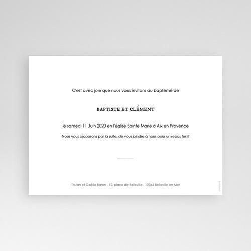 Carte Remerciement Double Bénédiction pas cher