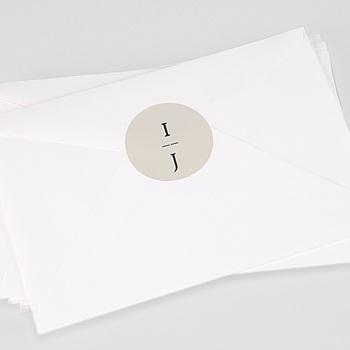 Étiquette autocollante mariage - Cadre Or - 0