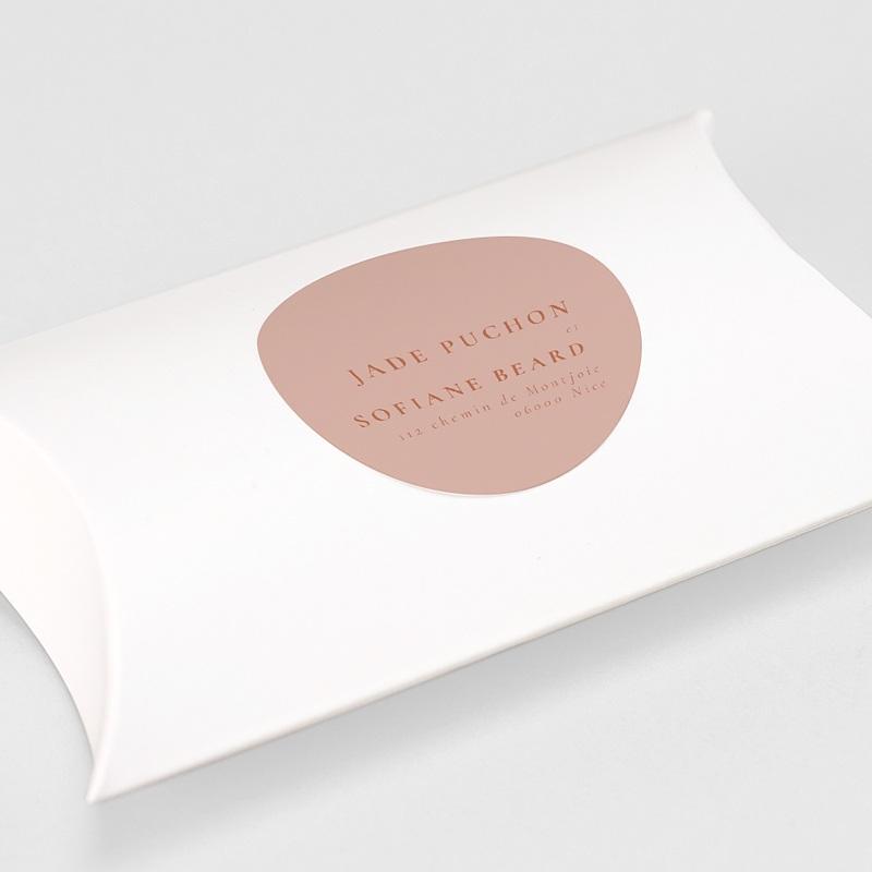 Etiquette autocollante mariage Terracotta gratuit