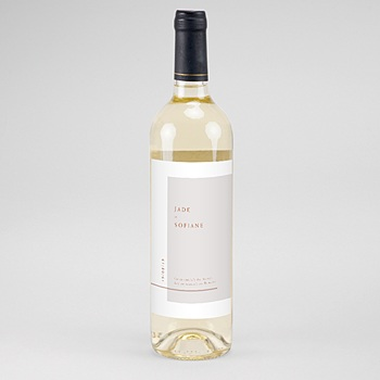 Étiquette bouteille mariage vin - Terracotta - 0