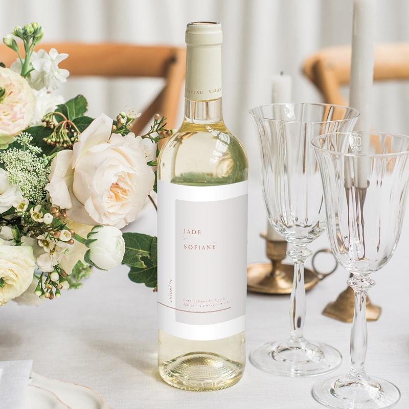 Étiquette bouteille mariage vin Terracotta