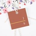 Etiquette Cadeau Mariage Terracotta gratuit