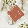 Etiquette Cadeau Mariage Terracotta