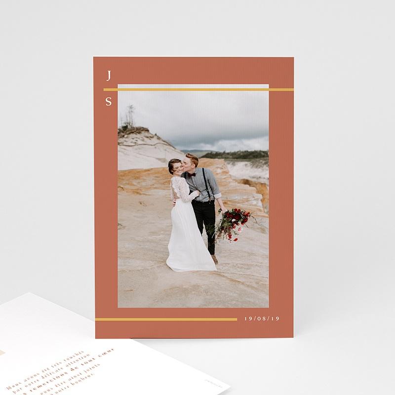 remerciement mariage boheme - Terracotta 72638 thumb