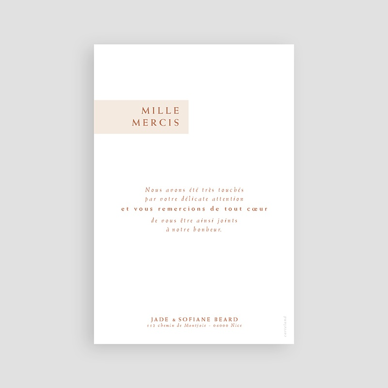 remerciement mariage boheme - Terracotta 72639 thumb