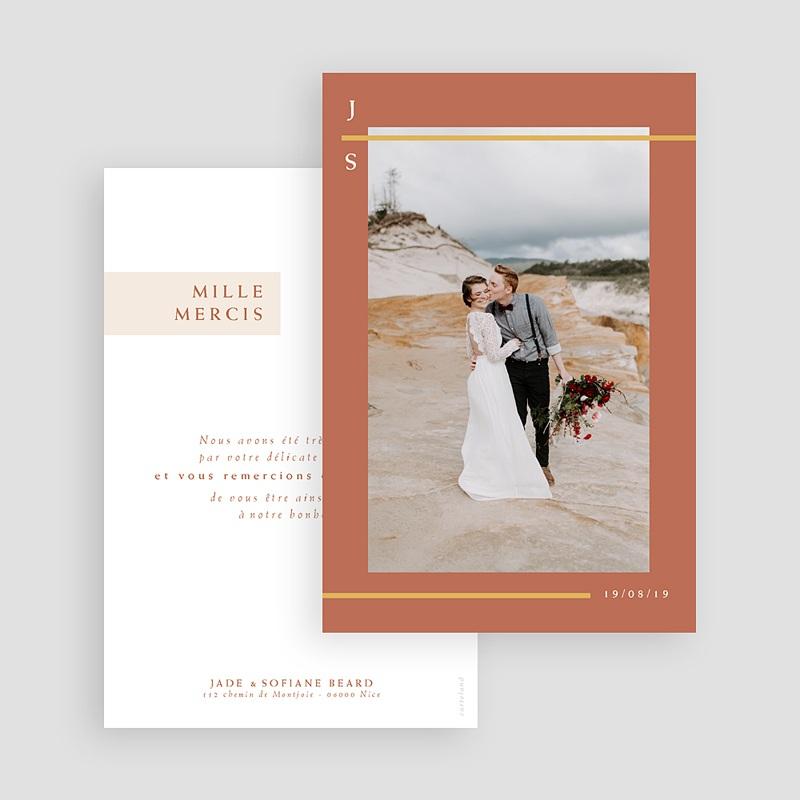 remerciement mariage boheme - Terracotta 72640 thumb