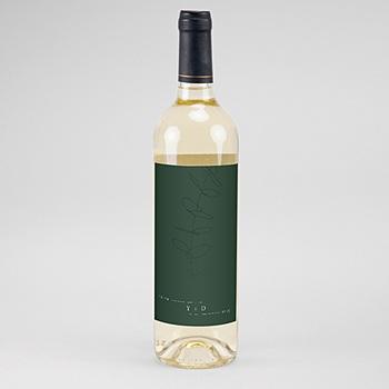Étiquette bouteille mariage vin - Eucalyptus - 0