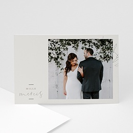 Remerciement mariage chic Eucalyptus