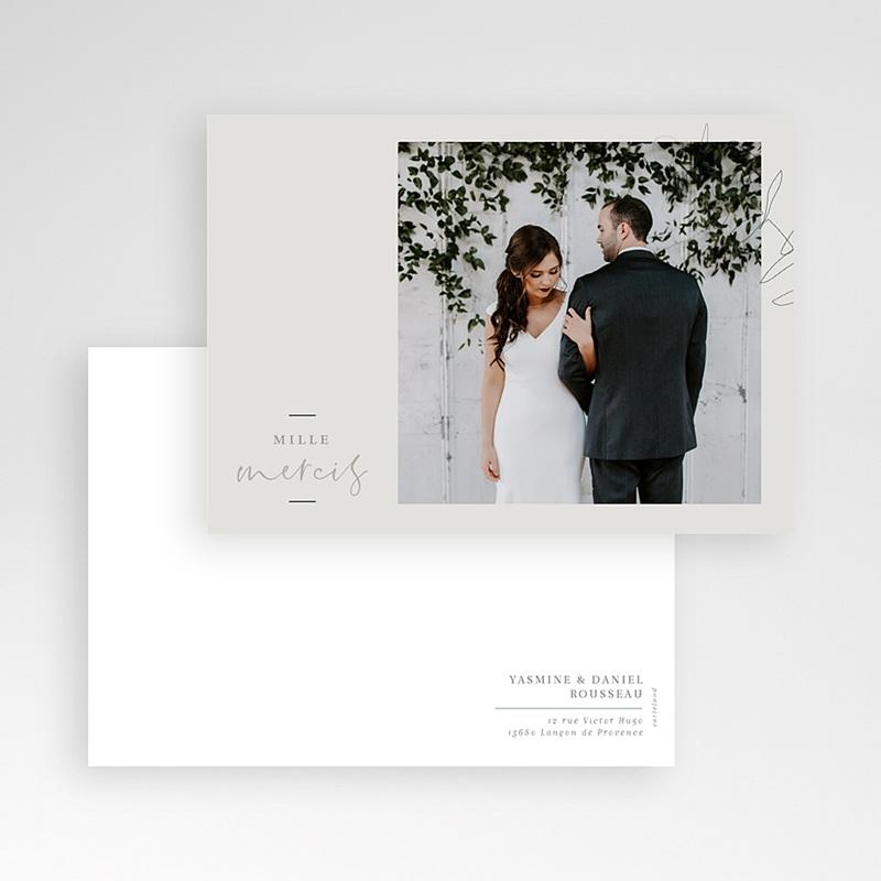 Carte remerciement mariage chic Eucalyptus pas cher