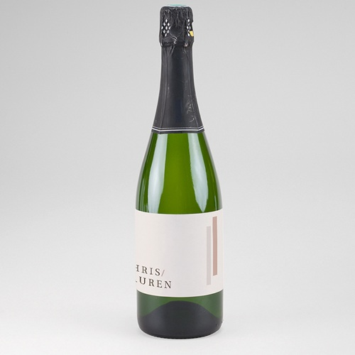 Etiquette Bouteille Champagne Blush Trio
