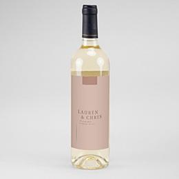 Étiquette bouteille mariage vin Blush Duo