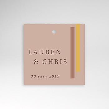 Etiquette mariage - Blush & Doré - 0