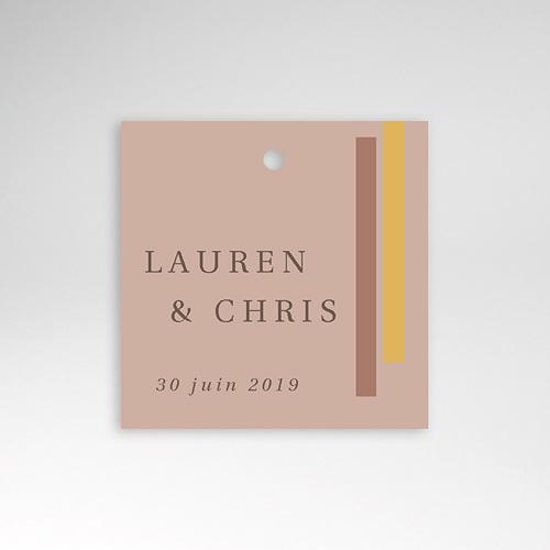 Etiquette Cadeau Mariage Blush & Doré