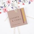 Etiquette Cadeau Mariage Blush & Doré gratuit