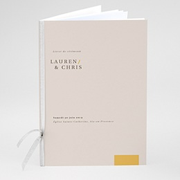 Livret de Messe Mariage Blush & Doré