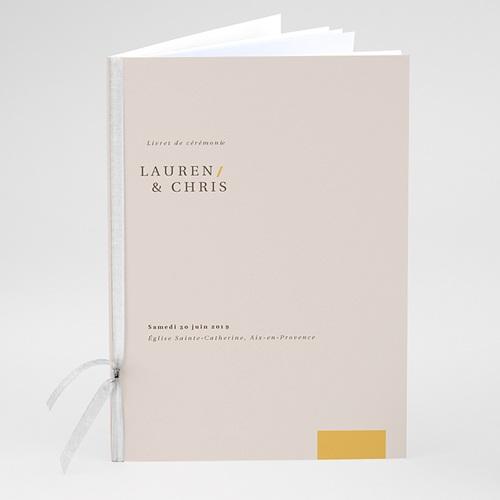 Livret Messe Mariage Blush & Doré