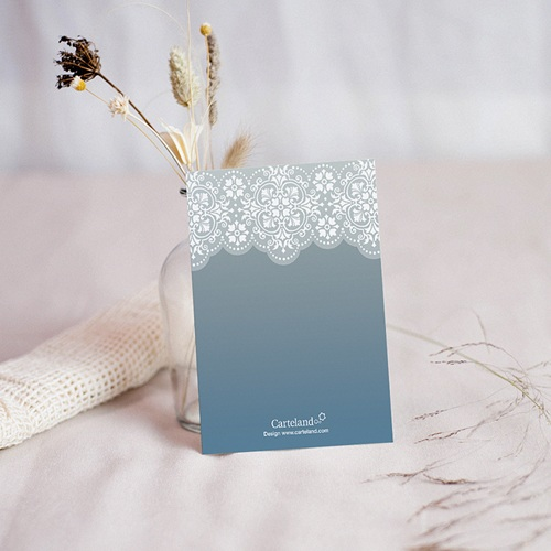Carte remerciement baptême garçon Azulejos gris pas cher