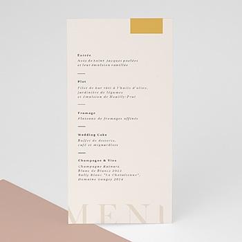 Menu de Mariage - Blush & Doré - 0