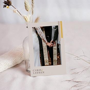 Remerciement mariage chic - Blush & Gold - 0