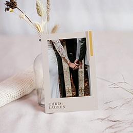 Remerciement mariage chic Blush & Gold