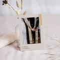Carte remerciement mariage chic Blush & Gold