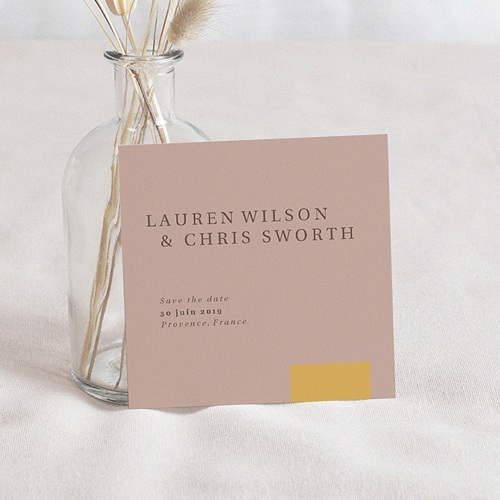 Save The Date Mariage Blush & Gold