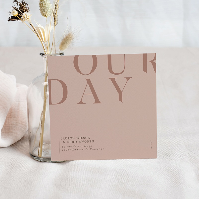 Save The Date Mariage Blush & Gold pas cher