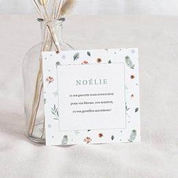 Remerciements Naissance Noel Liberty