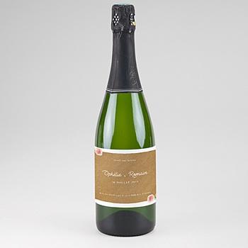 Etiquette bouteille mariage Floraison élégante