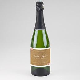 Étiquette bouteille mariage Floraison élégante