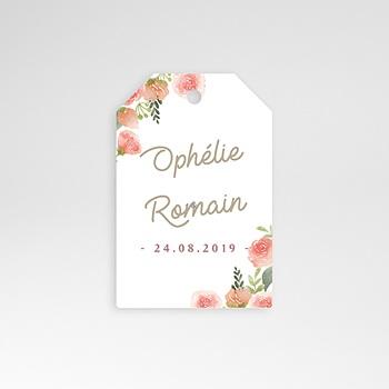 Etiquette mariage - Couronne Florale - 0