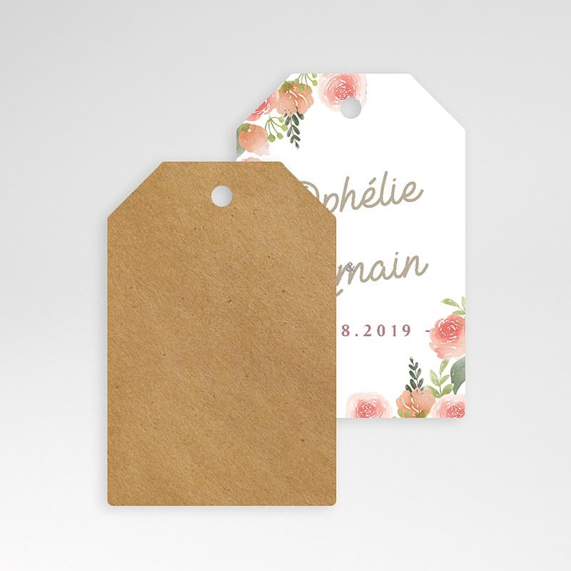 Etiquette Cadeau Mariage Couronne Florale pas cher