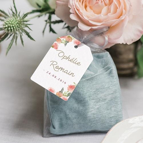 Etiquette Cadeau Mariage Couronne Florale gratuit