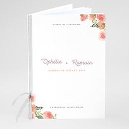 Livret de Messe Mariage Couronne Florale
