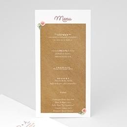 Menu Mariage Personnalisé Couronne Florale