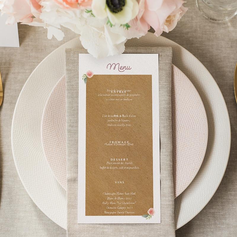 Menu Mariage Personnalisé Couronne Florale gratuit