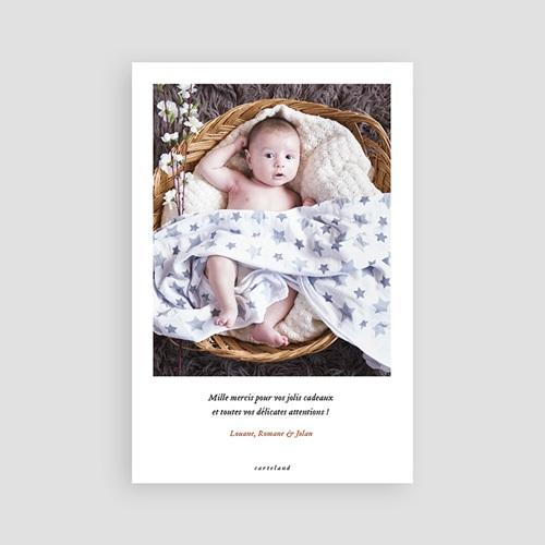 Carte remerciement naissance fille Landau Rétro pas cher
