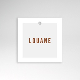 Étiquette Naissance Landau Rétro