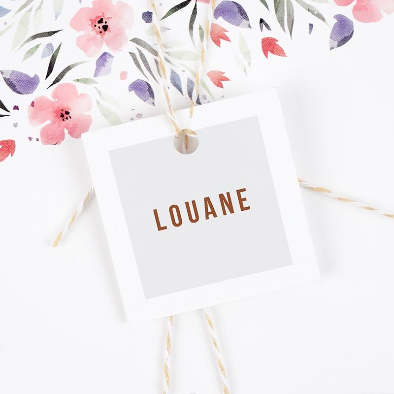 Etiquette Cadeau Naissance Landau Rétro gratuit